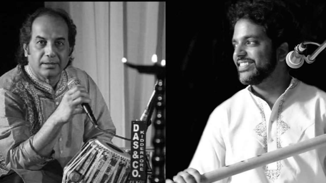 The court presents: Pandit Arup Chatterjee - tabla solo, and Jay Gandhi - bansuri performance.