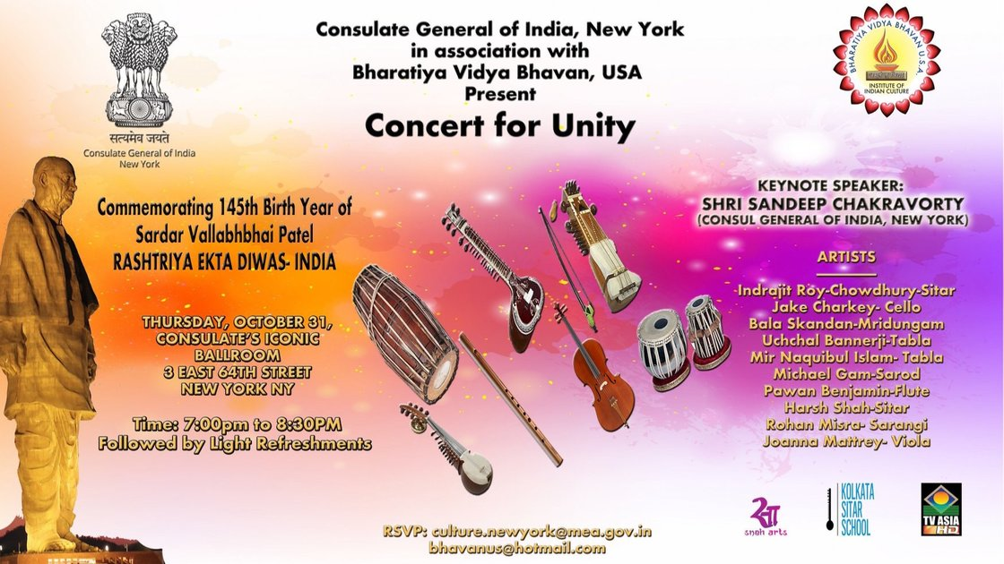 Indian Consulate Concert for Unity