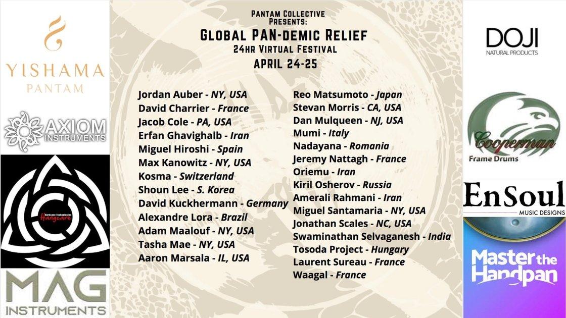 Global PAN-demic Relief (24hr Virtual Festival)