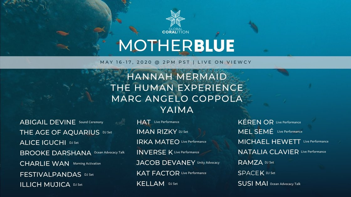 MOTHER BLUE: A Global Coralition Virtual Benefit