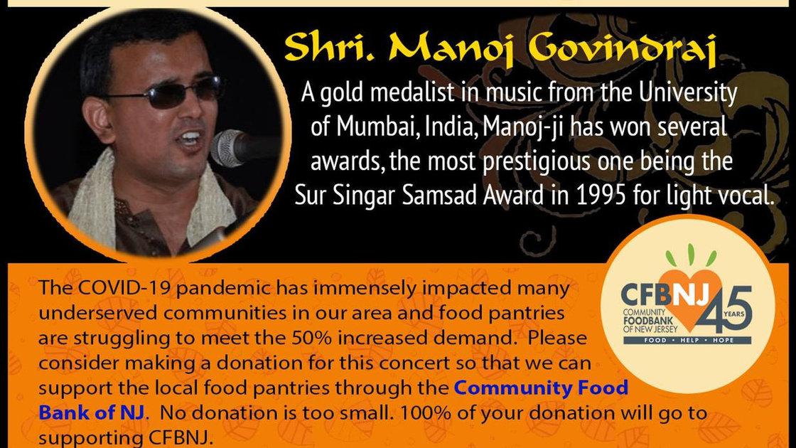 Manoj Govindraj in Concert - A fundraiser for Covid-19 relief
