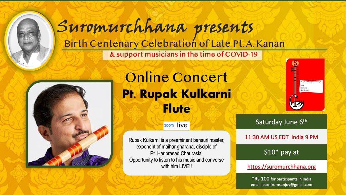 Pt. Rupak Kalkarni - bansuri - Online Concert