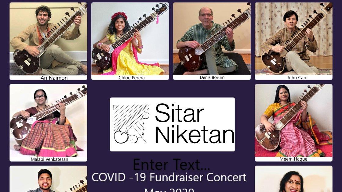 Sitar Niketan Student  Concert , COVID -19 Fundraiser