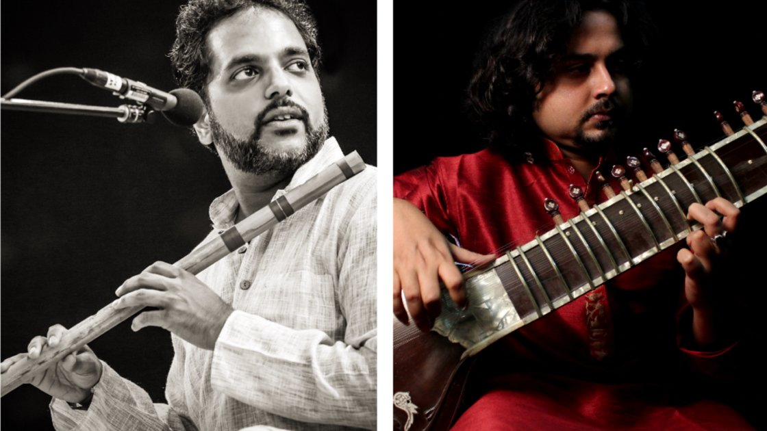 The Court presents:  Jay Gandhi (bansuri) and Shouvik Mukherjee (sitar)