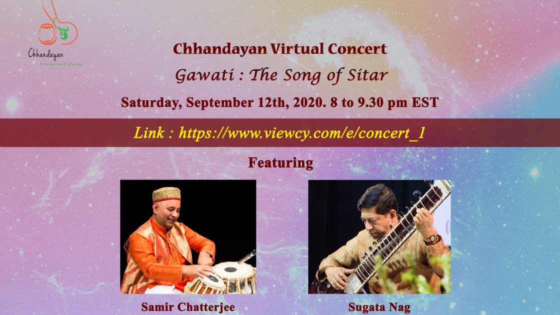 Chhandayan Baithak Concert on September 12th