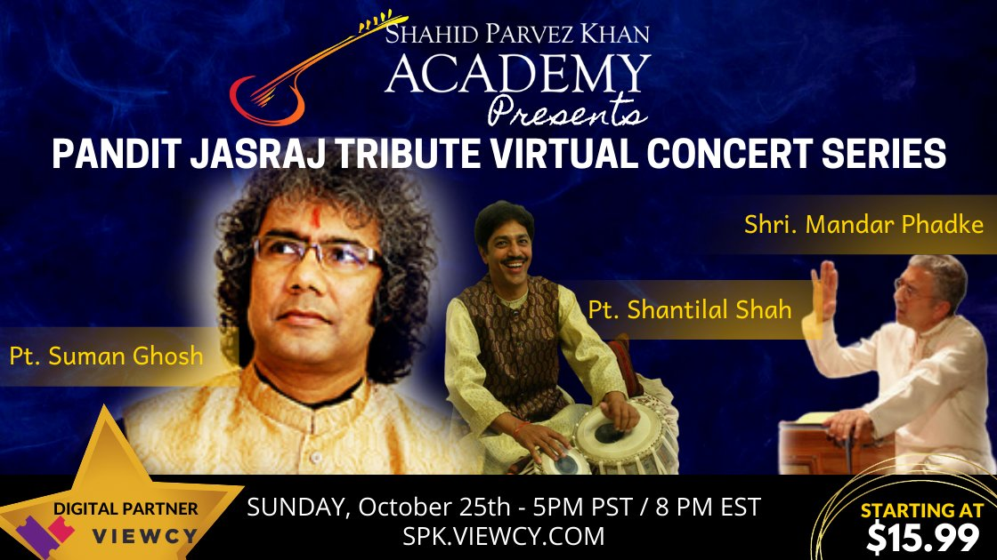 Pandit Jasraj Tribute Concert Series - Pandit Suman Ghosh (vocal) - Oct 25