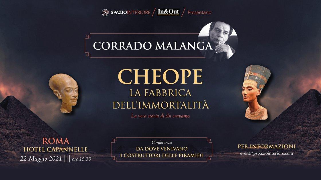 Diretta Streaming - Corrado Malanga - Conferenza DA DOVE VENIVANO I COSTRUTTORI DELLE PIRAMIDI