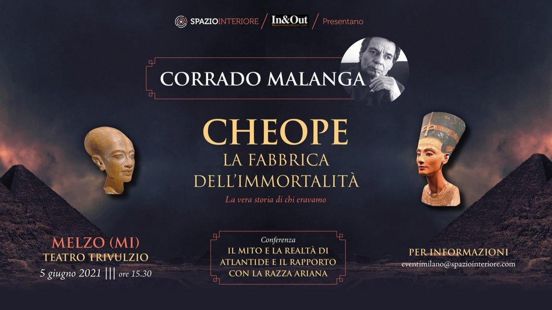 Diretta Streaming - Corrado Malanga - Conferenza IL MITO E LA REALTÀ DI ATLANTIDE E IL RAPPORTO CON LA RAZZA ARIANA