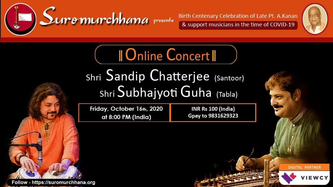 Suromurchhana Presents: Shri Sandip Chatterjee (santoor) & Shri Subhajyoti Guha (tabla) - India viewers