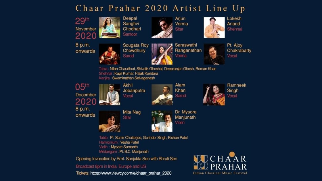 Chaar Prahar 2020 -  Day 1 November 29, 8 PM USA EST