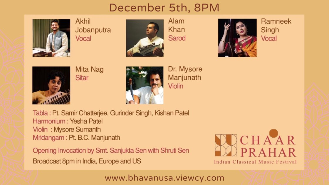 Chaar Prahar 2020 -  Day 2 December 5th (Broadcast 8 PM in India, Europe and US EST)