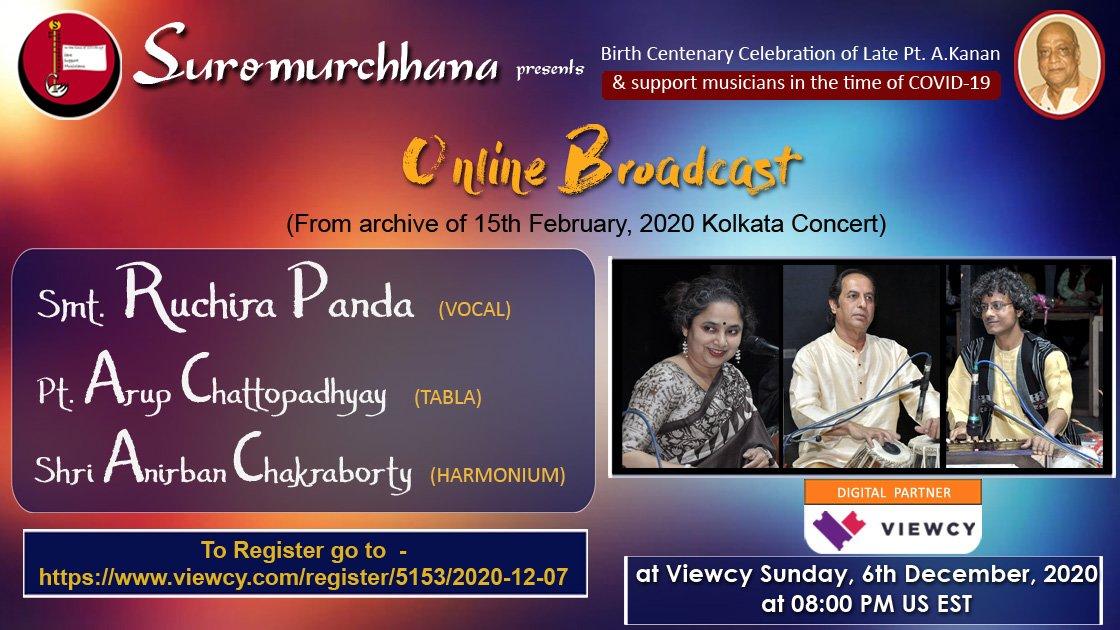 Smt. Ruchira Panda - online broadcast concert