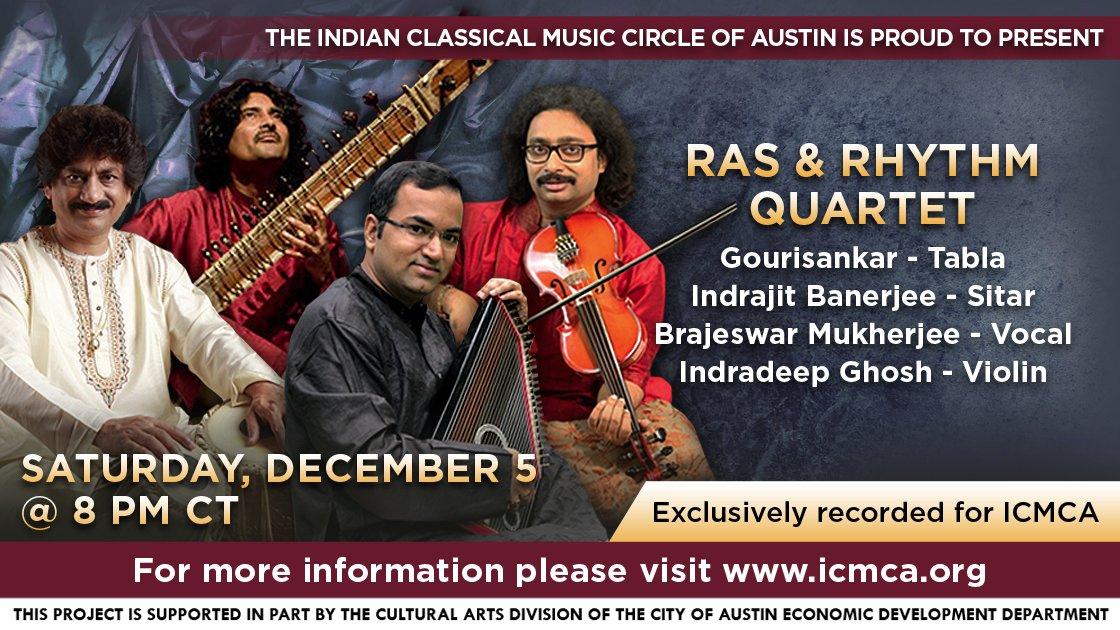 ICMCA presents - 'Ras and Rhythm Quartet'
