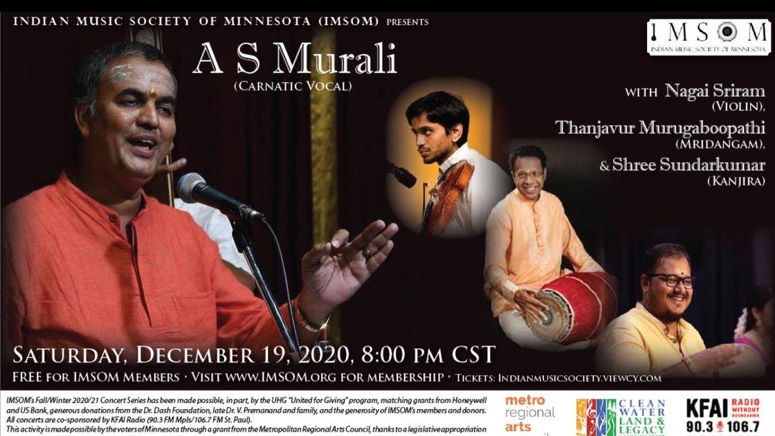 IMSOM Fall 2020 Concert #4 - A S Murali Carnatic Vocal