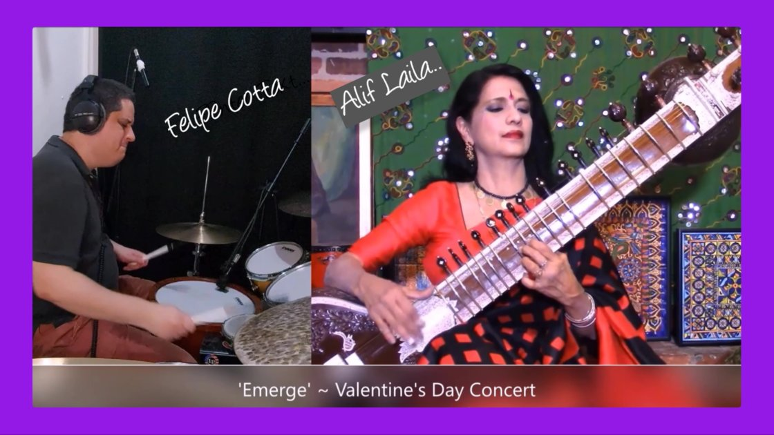 'Emerge' with Sitar & Drums