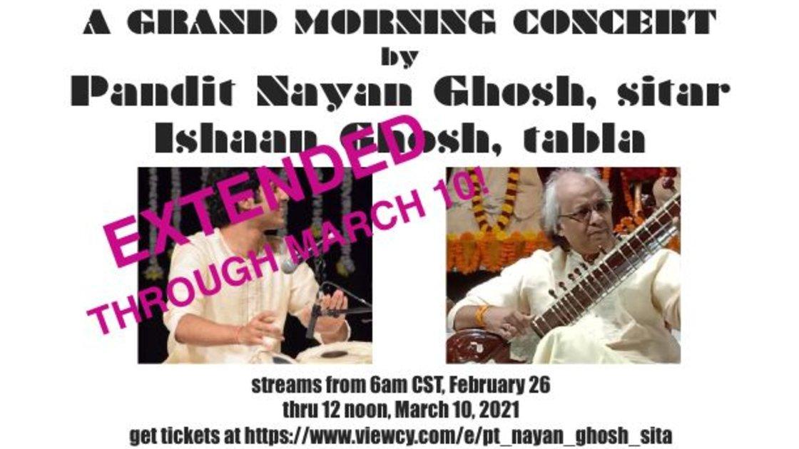 Pt. Nayan Ghosh, sitar with Ishaan Ghosh, tabla: Recital of Morning Ragas