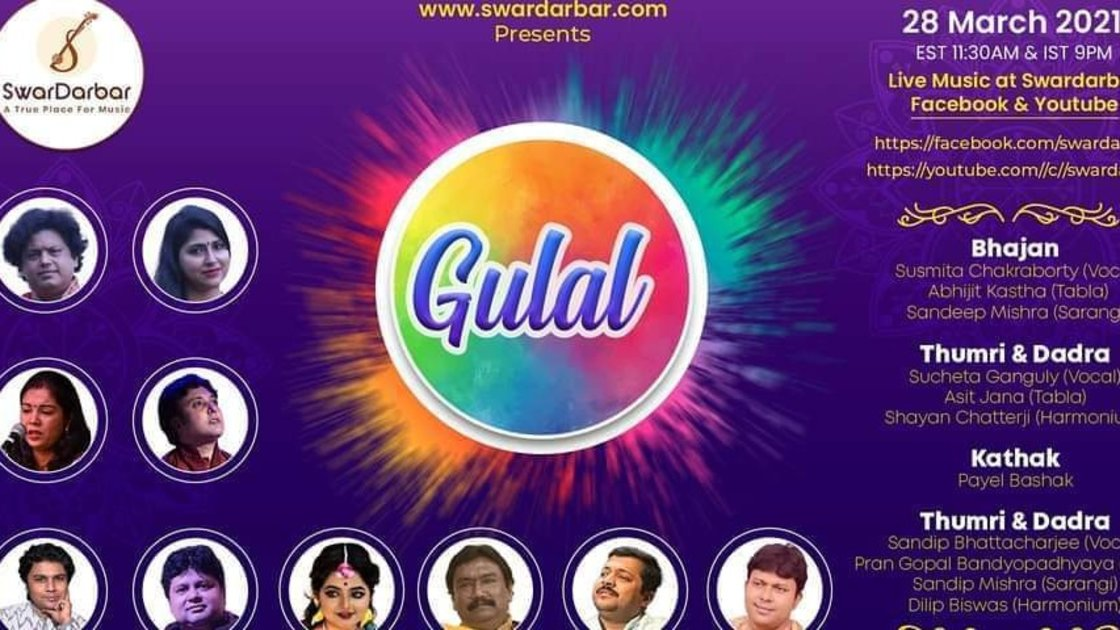 Gulal - Indian Classical Music & Dance Festival of Spring - a full 24 hours with 11 great artists!