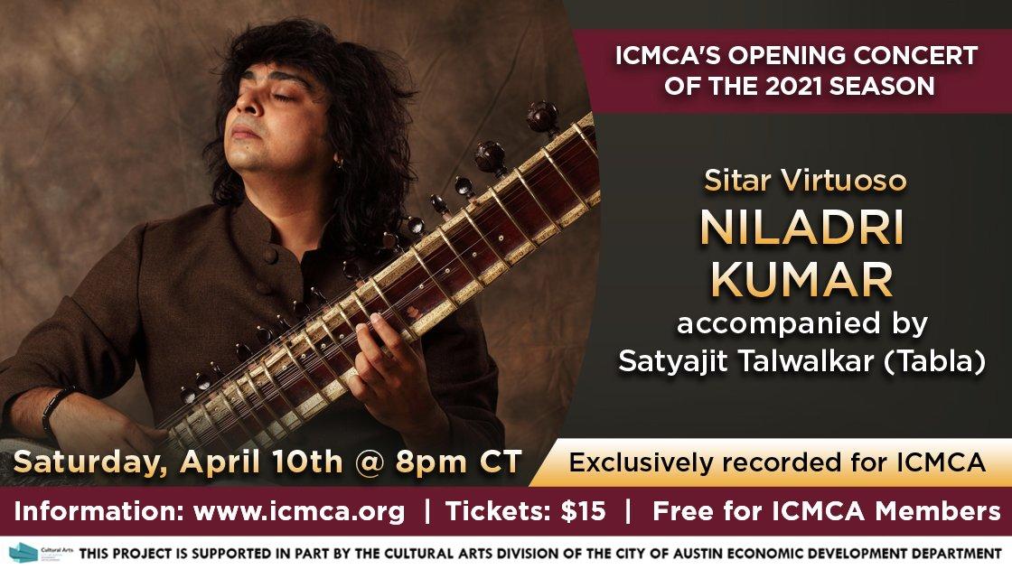 ICMCA presents Sitar Virtuoso Niladri Kumar