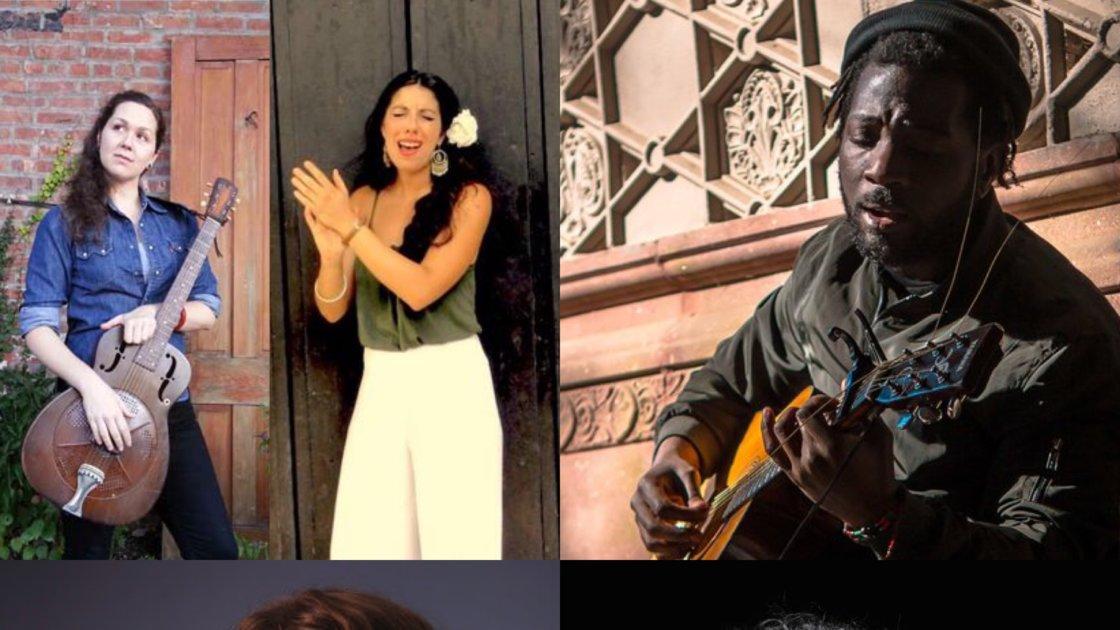 Roots n' Ruckus! Julia Patinella & Mamie Minch, James Margolis Video View, Marcus Jade, Allegra Krieger