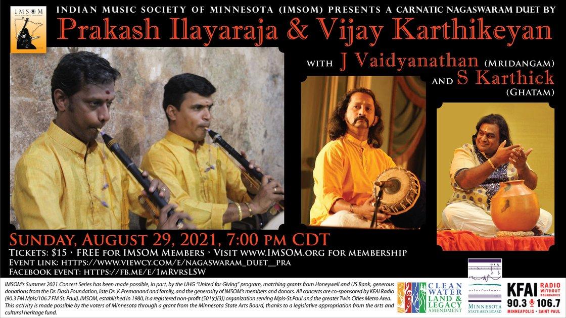 Nagaswaram Duet - Prakash Ilayaraja and Vijay Karthikeyan